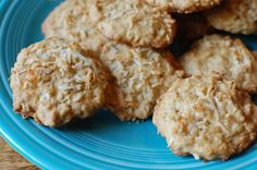 coconut oatmeal cookies - A Bird and a Bean