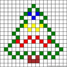 Christmas tree perler bead pattern Beaded Cross Stitch, Cross Stitch Charts, Cross Stitch Embroidery, Cross Stitch Patterns, Diy Christmas Ornaments, Christmas Cross, Christmas Tree, Christmas Patterns, Xmas