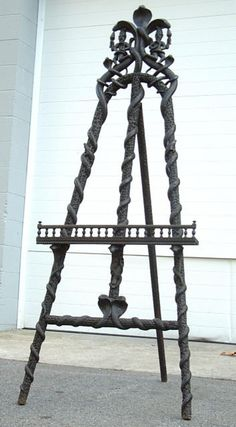 Antique Anglo India Hand Carved Rosewood Easel