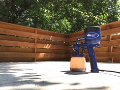 Spray staining our deck for a whole new look! This project was made easy with the HomeRight Finish Max paint sprayer.