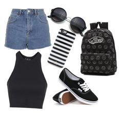 """""""Untitled #37"""" by bailanenaconmarama ❤ liked on Polyvore featuring Topshop, Vans, Kate Spade, women's clothing, women's fashion, women, female, woman, misses and juniors"""