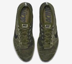 Nike Flyknit Racer Earth Tones - Olive