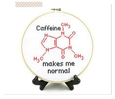 Caffein Molecule Cross Stitch