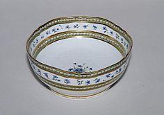 Bowl from Marie Antoinette's famous Sevres porcelain cornflower & pearl dinner service. Cornflower was Marie Antoinette's favourite flower.