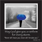 Picture Magnet, Umbrella, Hebrews 13:5