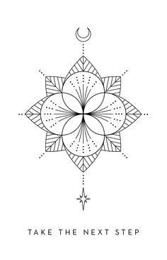 Take the Next Step - Inner Star Oracle Deck - The Darling Tree Henna Designs, Tattoo Designs, Paper Collage Art, Magic Symbols, Shirt Print Design, Shoulder Tattoos, Ink Illustrations, Geometric Art, Mandala Design