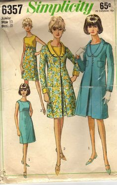 1965 Simplicity 6357 Vintage Sewing Pattern  - love