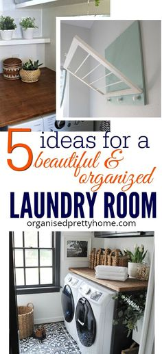 Design layout ideas for a small modern or rustic laundry room. Consider tiles, countertop, storage and organization. decor, Ikea cabinets. Australia - Organised Pretty Home #laundryroom #laundryroomideas #smalllaundrylayout #laundrylayout #laundrydesign #smalllaundry #ikea #laundry #laundrystorage #countertop