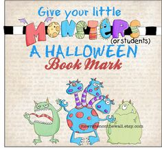 A Sugar-Free Treat for Halloween-12 #Halloween #Bookmarks  Guaranteed not to cause cavities!  Great for gifts from Teacher to the kids or attached to a treat for trick or treaters or party favors