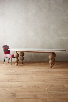 Please let this dining room table be delivered to my door very soon. Lacquered Elm Dining Table from Anthropolgie Dinning Tables And Chairs, Unique Dining Tables, Marble Top Dining Table, Oval Table, Dining Table In Kitchen, Round Tables, Dining Rooms, Old Fashioned Kitchen, Africa Art