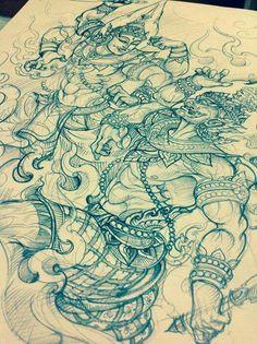 By Chayapon Zatarn Tattoos Bunme https://www.facebook.com/ZatarnTattoos