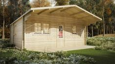 BUDGET TWO BED B LOG CABIN x Free shingle roof tiles, damp proof membrane and free floor insulation. Delivered by loghouse. Residential Log Cabins, Roof Boards, Floor Insulation, Log Cabin Designs, Big Bathrooms, Double Glazed Window, Roof Tiles, Open Plan Living, Cabins In The Woods