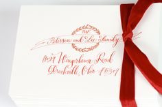 Christmas card envelope calligraphy | designsgirl