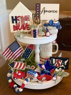 Fourth Of July Decor, 4th Of July Decorations, 4th Of July Party, July 4th, Memorial Day Decorations, Spring Decorations, July Crafts, Patriotic Crafts, Patriotic Wreath