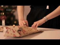 M&S How To Wrap Odd Shaped Presents ❄ Marks and Spencers Christmas 2012 ❄