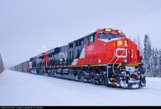 RailPictures.Net Photo: CN 2801 Canadian National Railway GE ES44AC at Bickerdike, Alberta, Canada by Tim Stevens