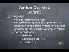 Autism Overview-- a bit to digest, but a quick breakdown on autism deficits and excesses