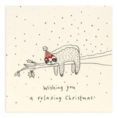 Welcome to Ruth Jackson – home of Pencil Shavings Cards and other delightful creations. All lovingly made in Great Britain and sold all over the world. Christmas Sloth, Cute Christmas Cards, Xmas Cards, Kids Christmas, Diy Cards, Christmas Crafts, Greeting Cards, Paint Cards, Homemade Christmas Gifts