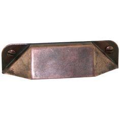 Antique Copper  Cabinet Bin Pull $6.95