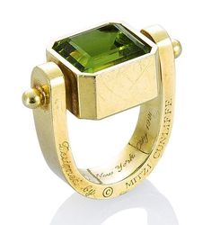 Bonhams Auction 19751 Lot 116 - A peridot and gold ring, by Mitzi Cunliffe for Cartier, 1991