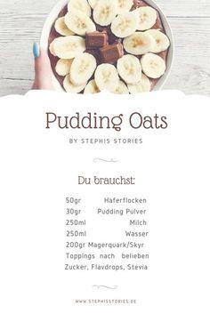 Du suchst eine Alternative zu Porridge? Alle Zutaten für leckere und schnelle Pudding Oats findest du hier.