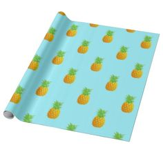 Pineapple Pattern on Blue. A repetitive pattern of simple pineapples on a bright blue background. This is a cute and summery pattern perfect for many occasions.