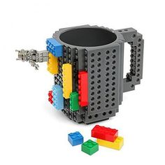 Made of BPA-free plastic Mug with exterior building surface compatible with most bricks Creative decoration for your daily life Great gift for you and your friends Suitable for home, office, school, e
