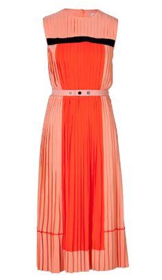 Pleats! >>VICTORIA, VICTORIA BECKHAM Pleated Colorblock Dress