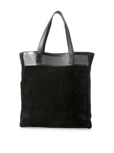 Saint Laurent Women's Shopping Tote, Black Suede, http://www.myhabit.com/redirect/ref=qd_sw_dp_pi_li?url=http%3A%2F%2Fwww.myhabit.com%2Fdp%2FB00KNSL486%3F