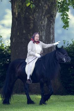 The Queen loves riding.