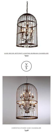 Luxe Decor Artcraft Lighting Burbank Chandelier $922 Vs @overstock Rinee Cage Chandelier $348