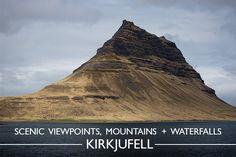 Scenic Viewpoints, Mountains + Waterfalls : Kirkjufell