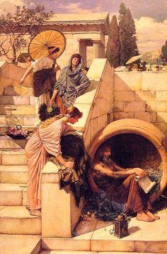 Diogenes by John William Waterhouse, 1882