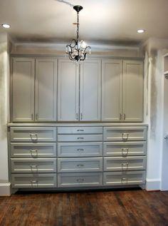 Master bedroom: built-in cabinets/shelving.