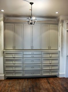 Master bedroom: built-in cabinets/shelving.