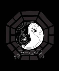 Finn and Jake Yin and Yang. :) Adventure Time