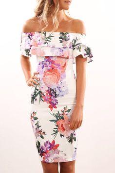 Sierra Dress White Floral