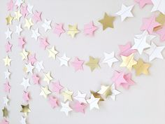 Excited to share the latest addition to my #etsy shop: Twinkle Twinkle Little Star Paper Garland Pink Gold Girl 1st Birthday Party Star Decor Baby Shower Cake Smash Backdrop Cheap Bridal Shower