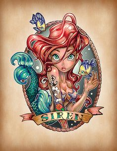 La petite sirène : tim shumate illustration princesses disney #illustration…