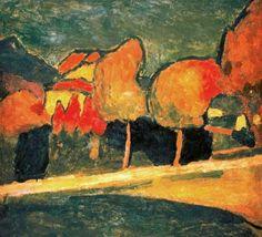 """ein-bleistift-und-radiergummi: """"Alexej von Jawlensky 'Murnauer Landschaft', 1907. """""""