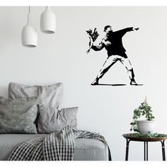 Famous Banksy Street Art Little Girl With Balloon Decor Vinyl Wall Decal Sticker