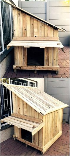 Time to give your pet a unique and comfortable rest area. This idea also enhances the beauty of out door decor. It is a movable pet house. The idea of reshaping used wood pallets into a dog house encourages you to change the typical look of your outdoor. This well built small house not only gives your pet a comfortable space to sleep but protection as well. Make your dog feel the home owner with as simple an idea.