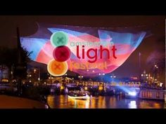 ▶ VIDEO (timelapse): The making of 1.26 Sculpture Project at the Amsterdam Light Festival - suspended over the Amstel River in front of the Amsterdam Stopera (the City Hall and Opera House) Amsterdam, Netherlands. Art by Janet Echelman, Janet Echelman Inc..