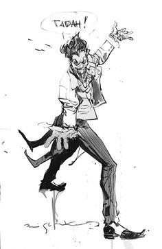 The Joker (iPad sketch) by Bill Sienkiewicz *