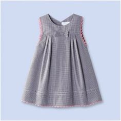 Trends: Checks Please! Girls Frock Design, Baby Dress Design, Baby Girl Dress Patterns, Baby Clothes Patterns, Sewing Patterns, Cotton Frocks For Kids, Frocks For Girls, Toddler Girl Dresses, Little Girl Dresses
