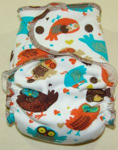 Adorable! Very Baby Retro Owl Fitted Diaper