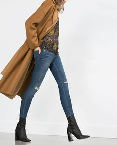 Image 3 of CROPPED MID-RISE SKINNY JEANS from Zara