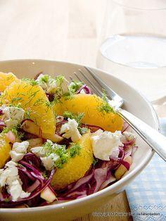 Kleiner Kuriositätenladen: Rotkohlsalat mit Feta German Salads, Feta Salat, Bon Appetit, Food Inspiration, Cobb Salad, Potato Salad, Side Dishes, Healthy Recipes, Healthy Food
