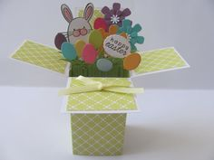 Easter Card in a box by SassyScrapsCrafts on Etsy, $5.00