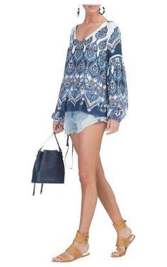 Bata manga longa Marina - azul